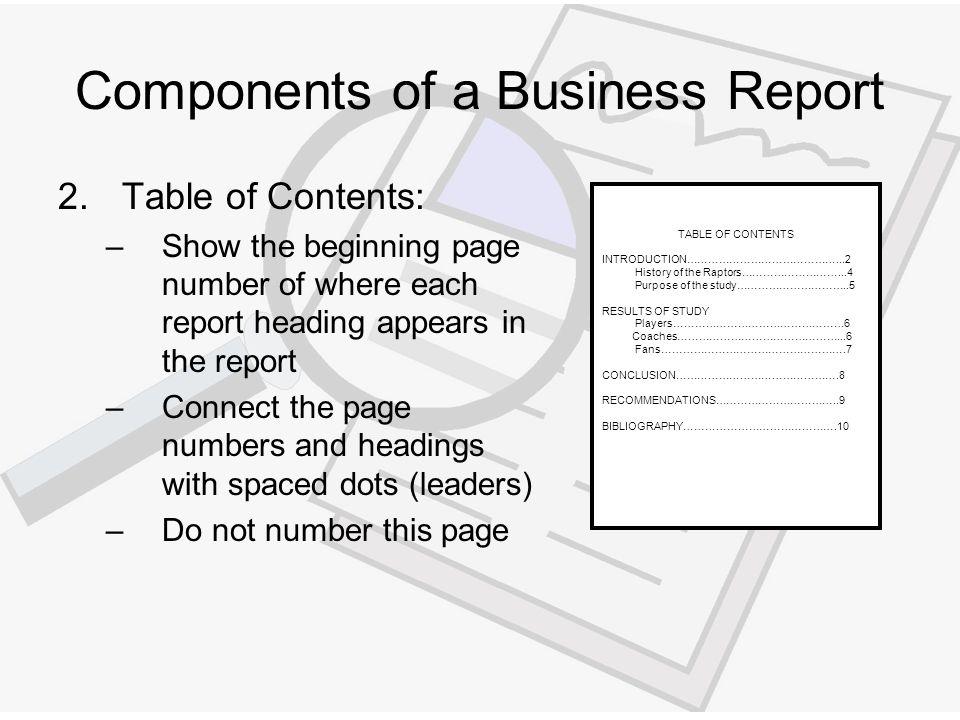 write me a report