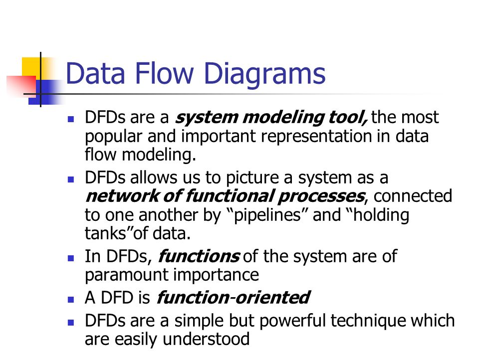 data flow diagrams dfds are a system modeling tool the most popular and important representation - Dfd Tool