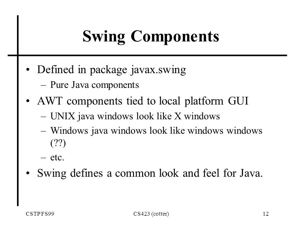 Atractivo Setsize Java Marco Componente - Ideas Personalizadas de ...