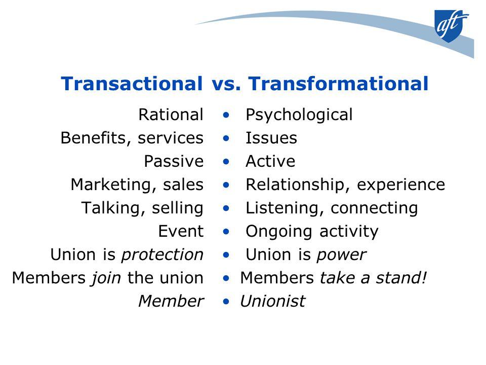 Transactional vs.