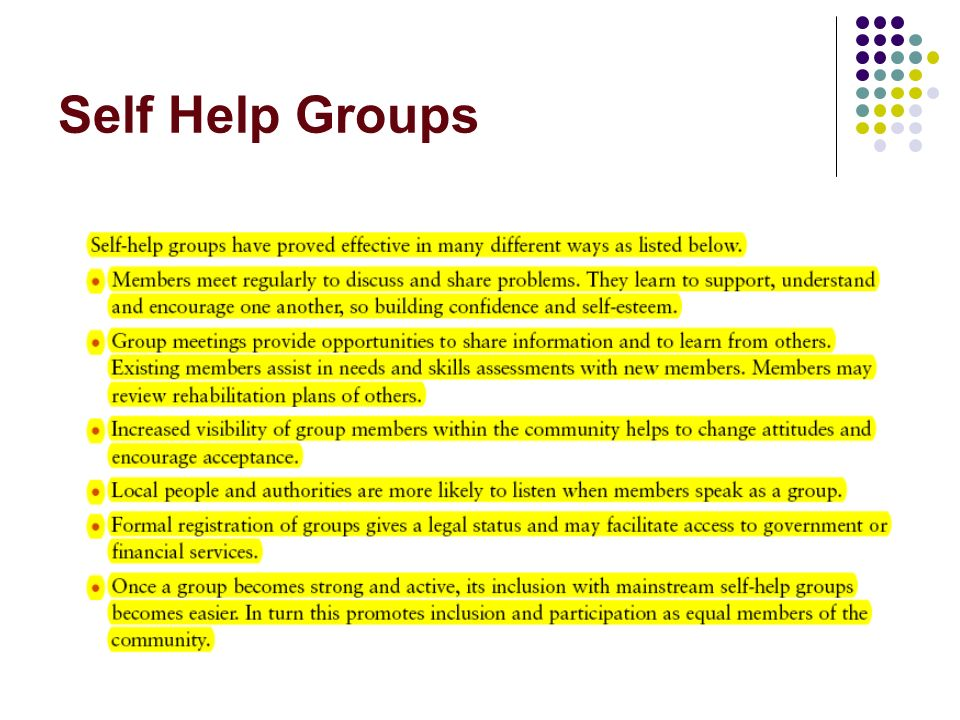 Self Help Groups