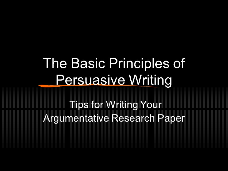 writing a persuasive research paper ppt Writing a persuasive research paper ppt - essays & dissertations written by professional writers enjoy the advantages of qualified custom writing assistance available here instead of.