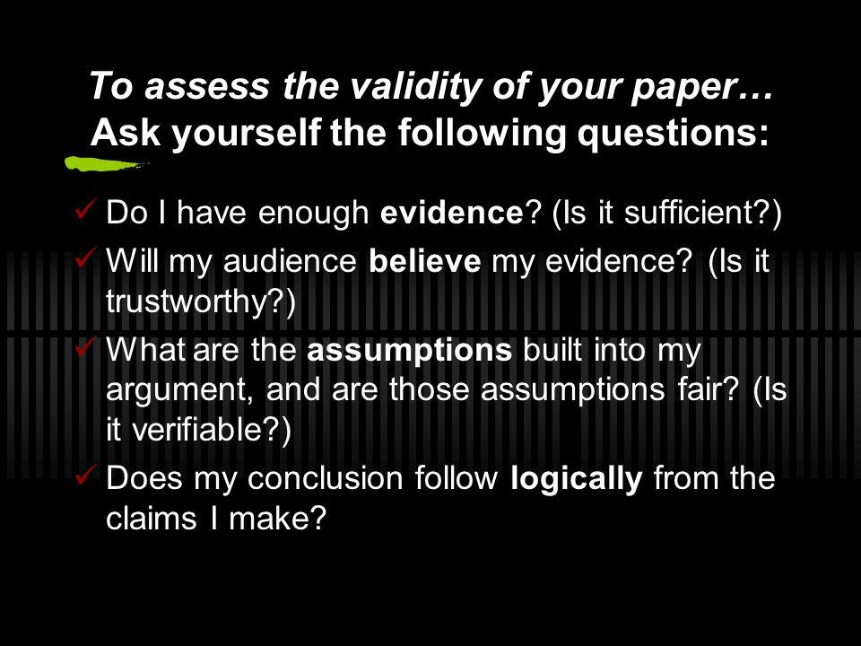 presenting a scientific research paper