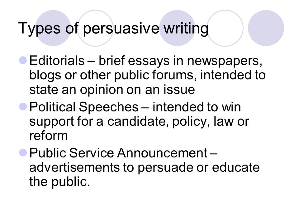 persuasive writing political speeches Find the inner-politician in you get tips for using the criteria satisfaction persuasive speech style in this free video clip about writing a great persuasi.