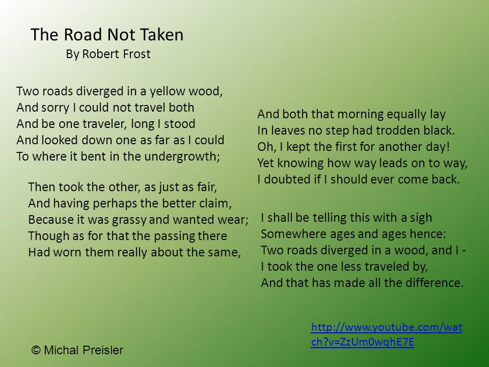 the road not taken and an unknown girl essay The road often taken lauren stull college of dupage happy life– it was unknown whether or not his life of conformity was in fact a happy one this.
