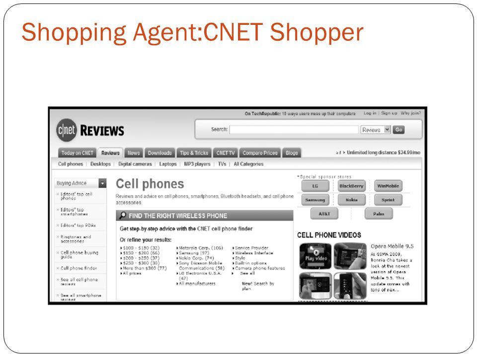 Shopping Agent:CNET Shopper