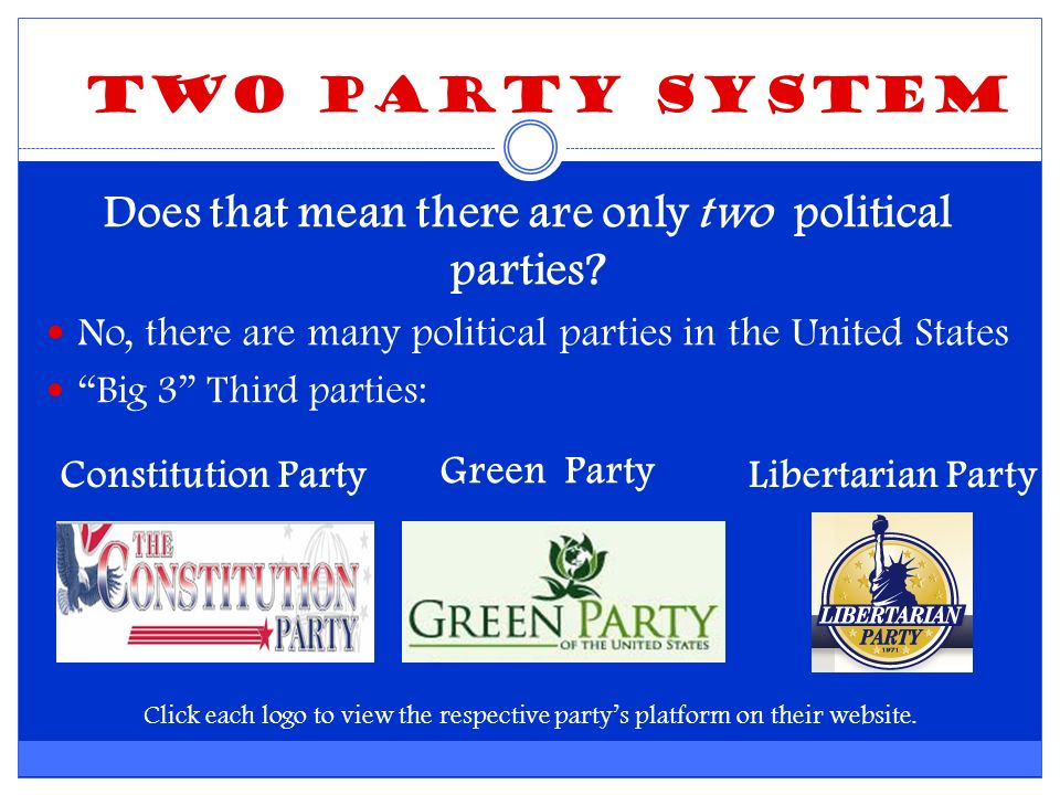 Does that mean there are only two political parties.