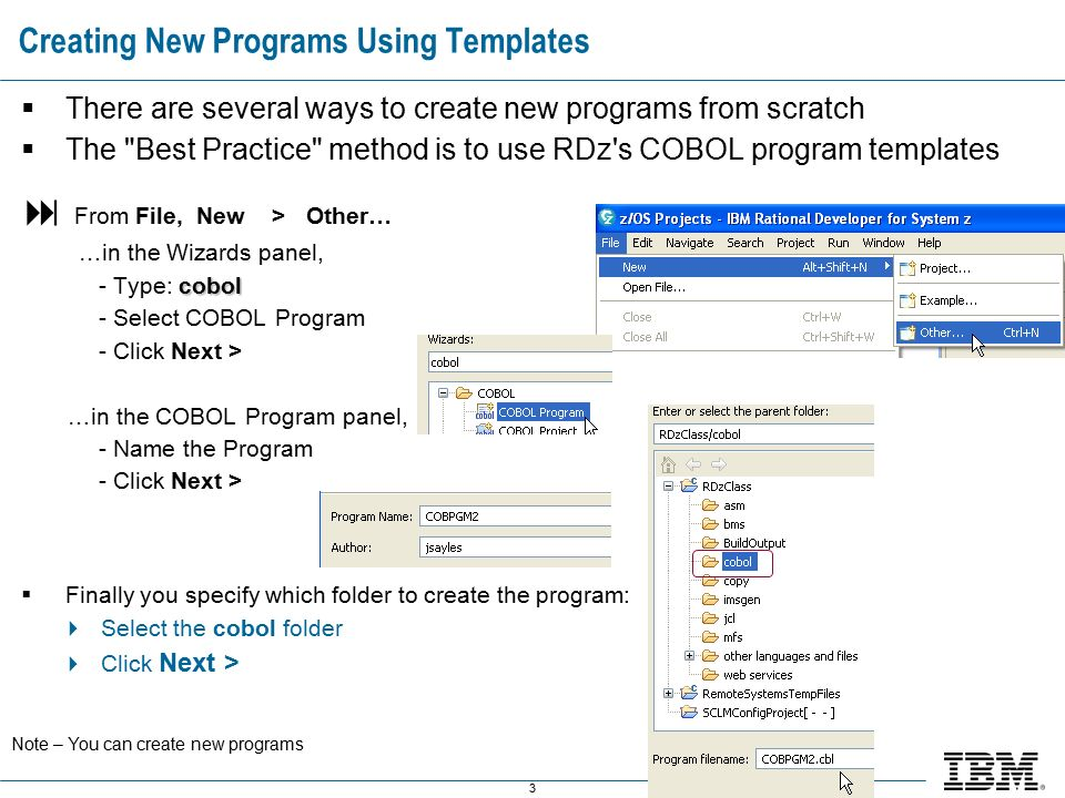 Ibm Software Group Appendix C  Code Reuse  Program Templates