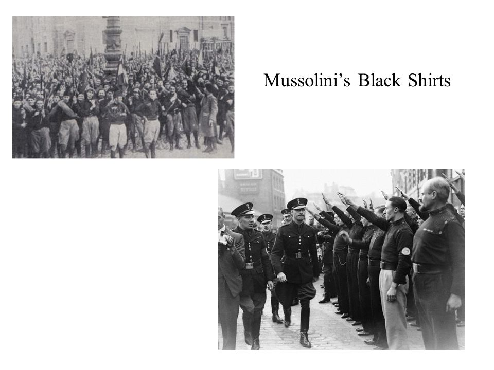 Mussolini's Black Shirts