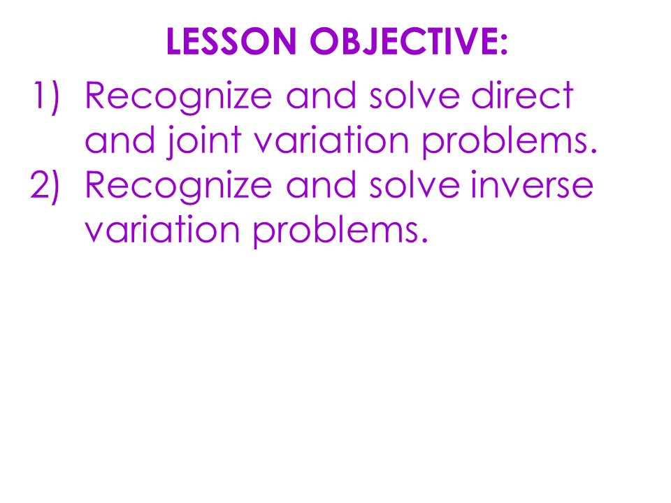 Finding And Using Inverse Functions Lesson 50 Lesson Objective 1