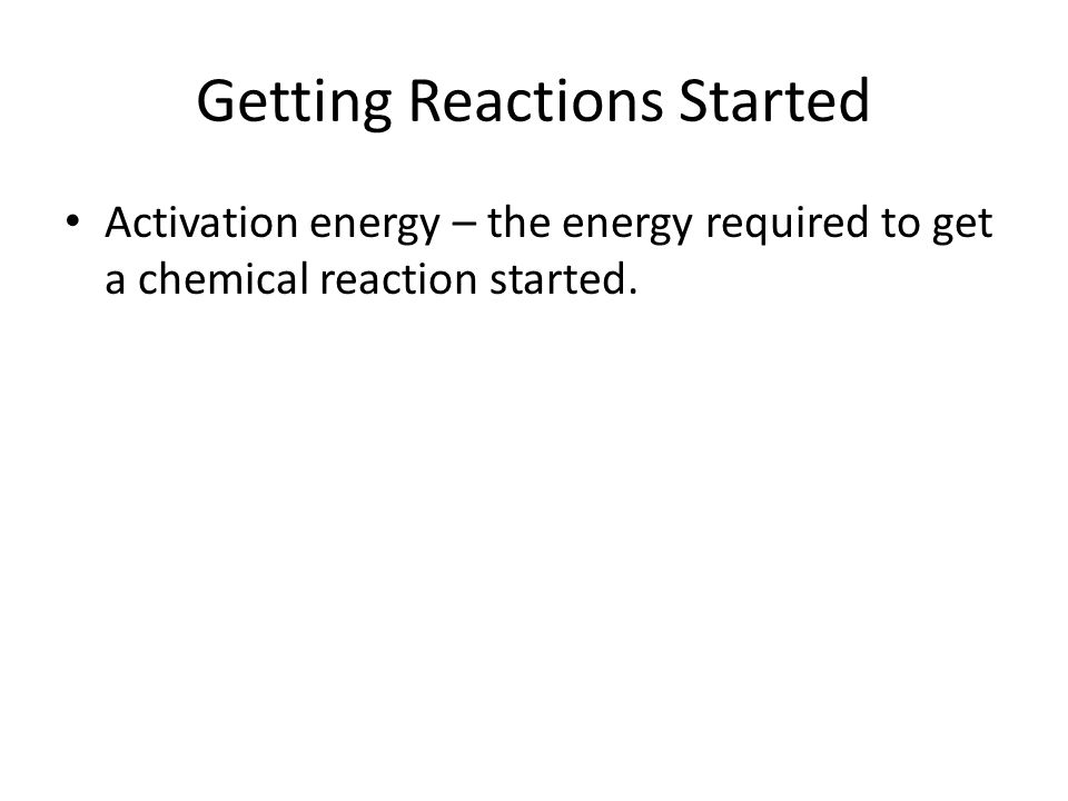 Controlling Chemical Reactions Every chemical reaction involves a change of energy.