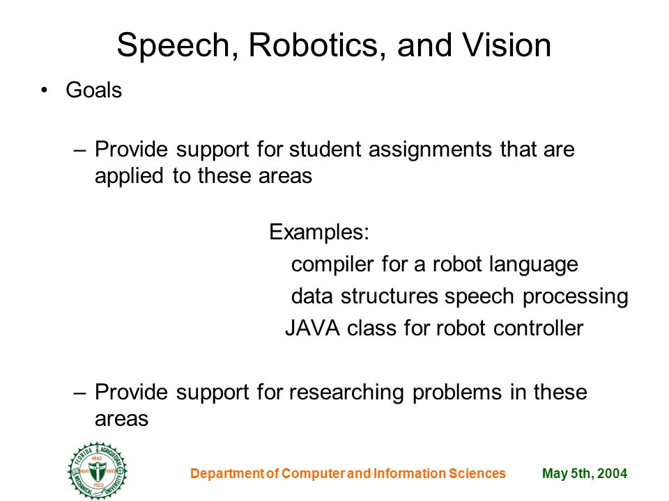 informative speech on robotics Write an informative speech outline by using these basic elements, important for any good speech presentation.
