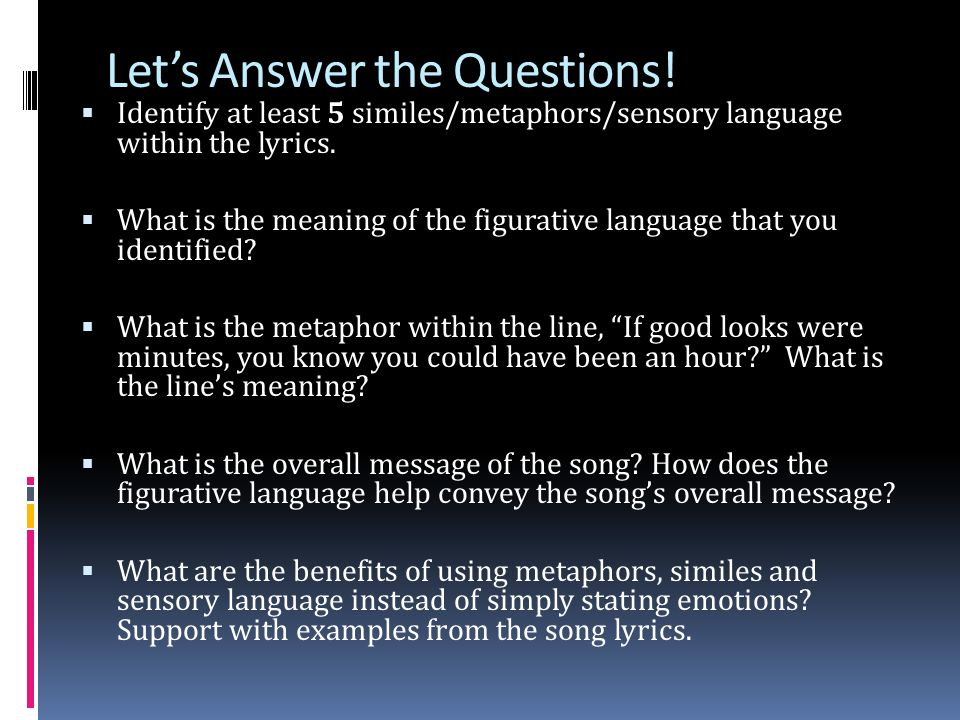 Where Do We Commonly Find Examples Of Figurative Language Ppt