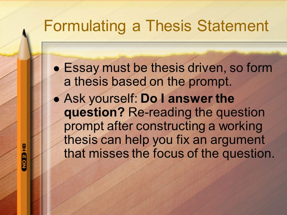 A thesis statement: is usually a single sentence usually at then end of your introduction (your first paragraph) that presents your argument to the reader.