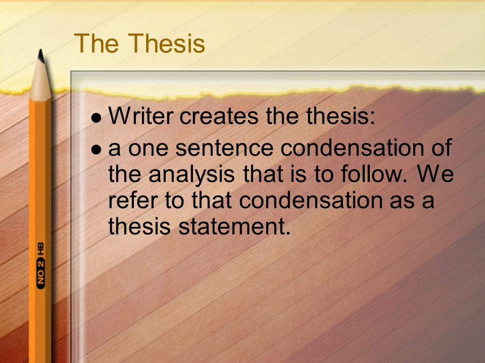 How do I develop a Thesis.
