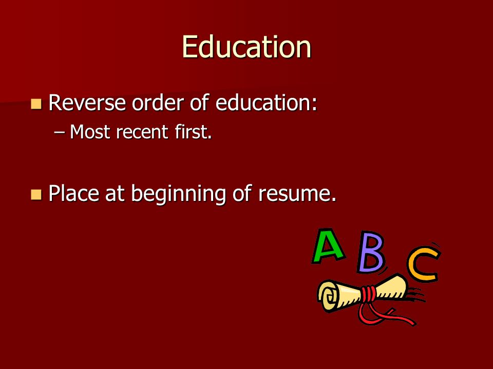 6 education - Resume Place
