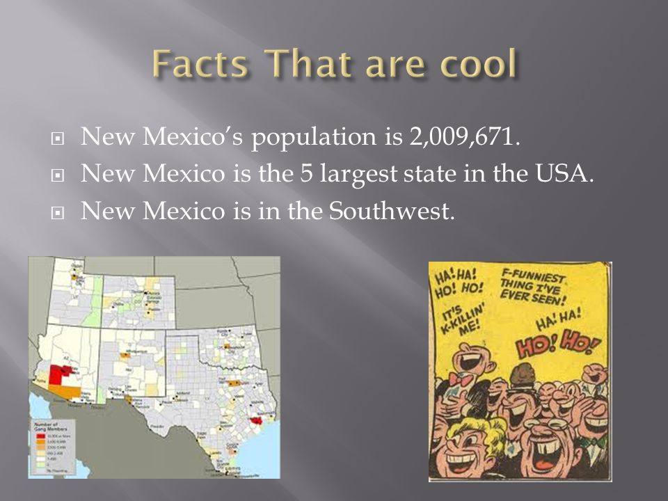 New Mexicos Population Is New Mexico Is The - Biggest state in usa