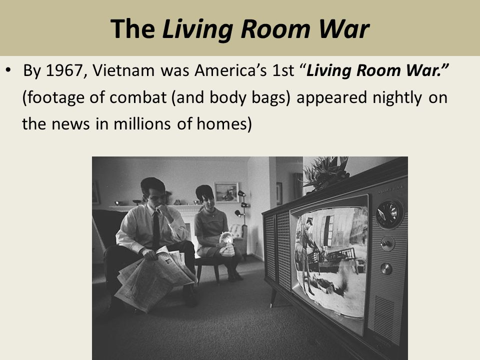 Chapter  Section  US Involvement And Escalation Jan - Living room war