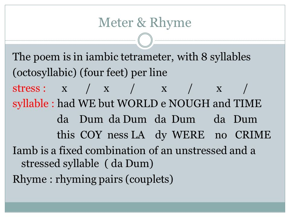 by andrew marvell to his coy mistress ppt 3 meter