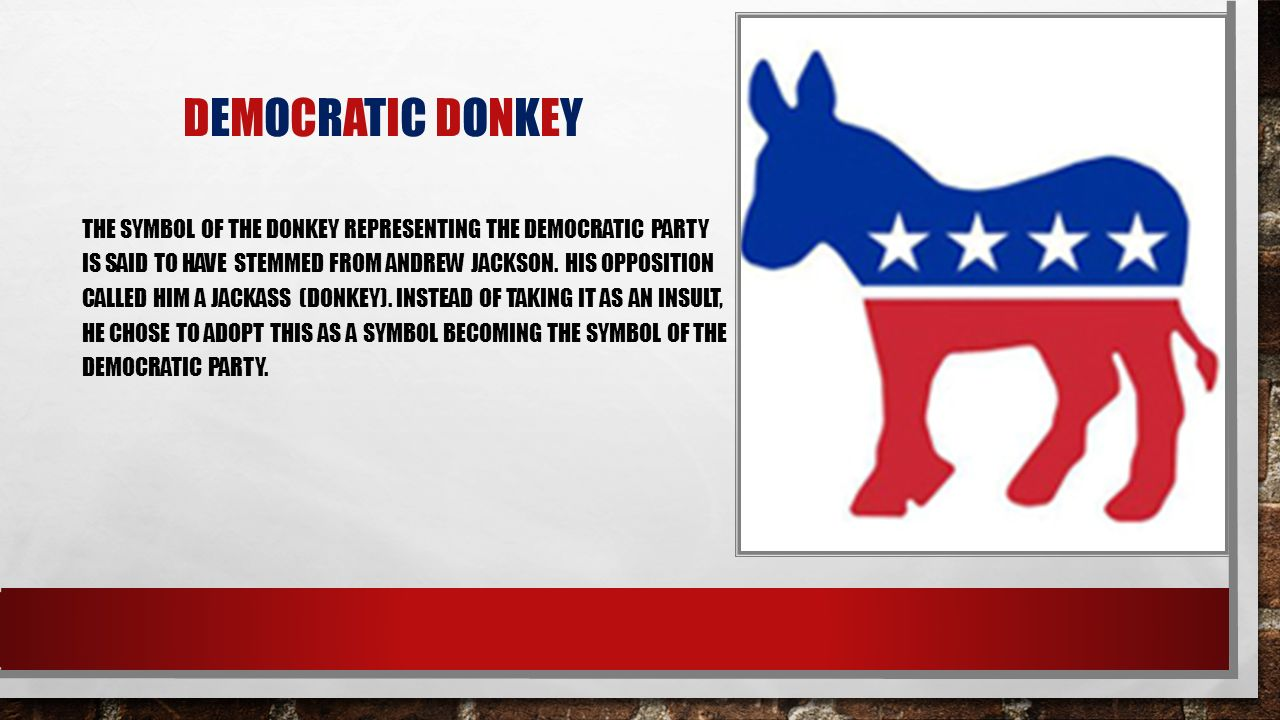 Democratic party by nyla imani river and sydney ppt download 8 democratic donkey the symbol biocorpaavc Image collections