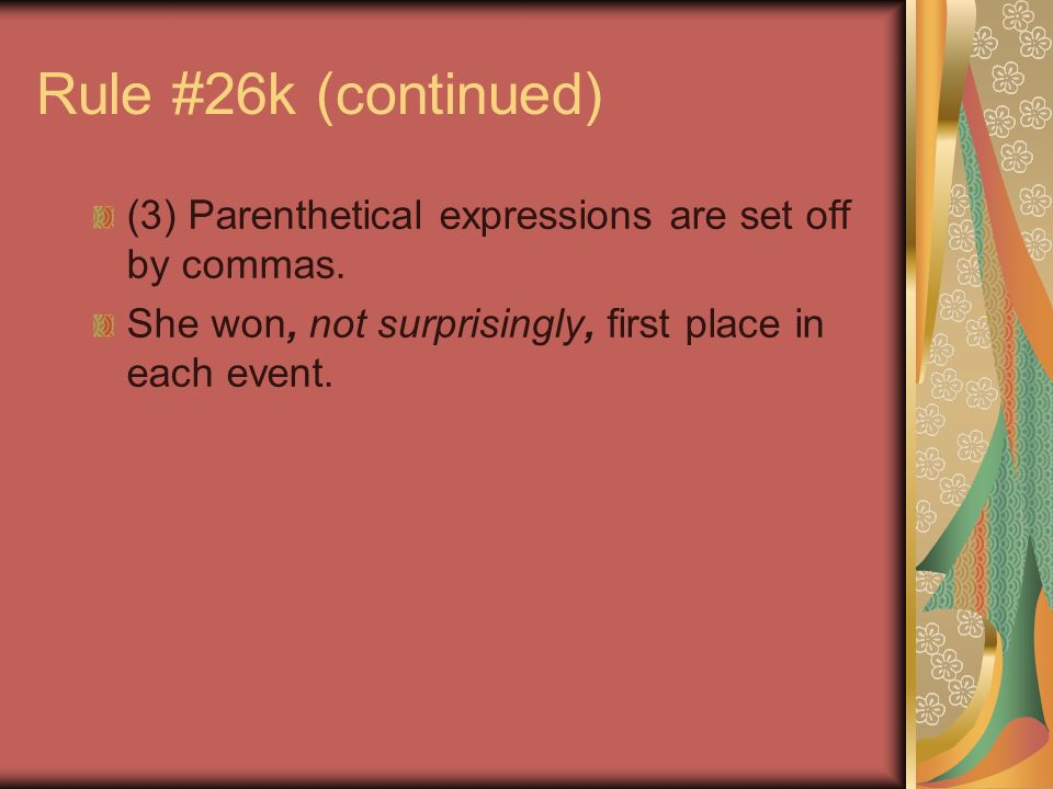 Comma Usage Rule 26f Use Commas To Separate Items In A Series I