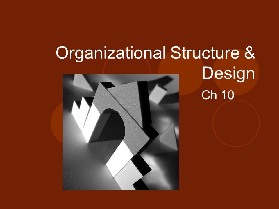 Organizational Structure & Design Ch 10