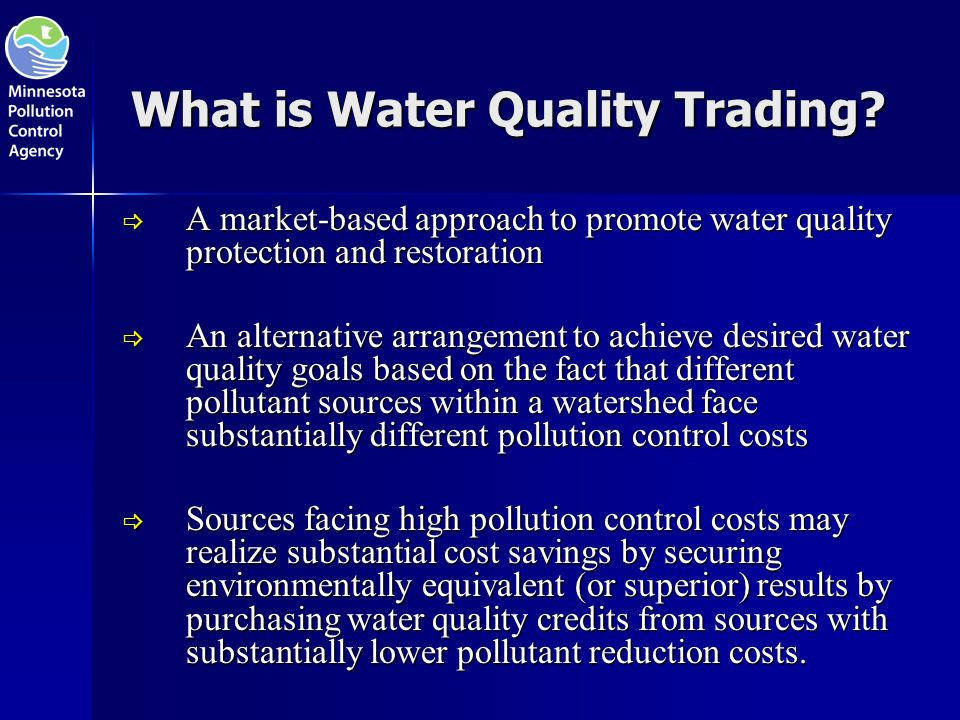 What is Water Quality Trading.
