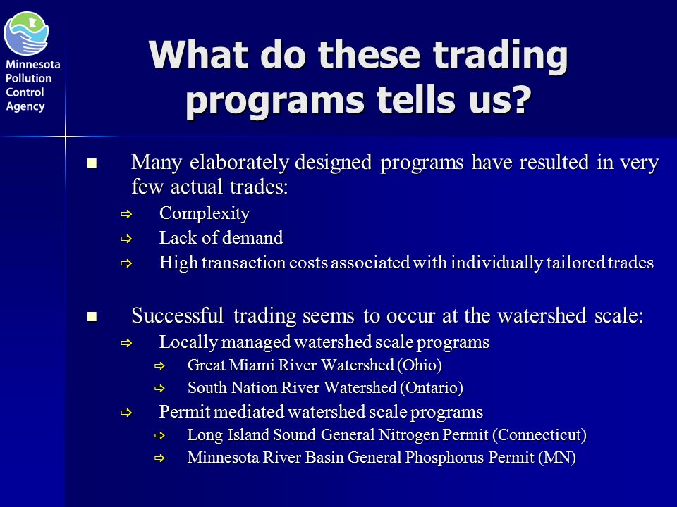 What do these trading programs tells us.