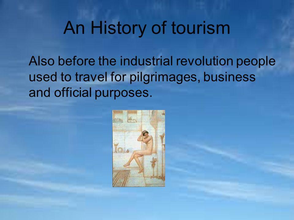 history of tourisim
