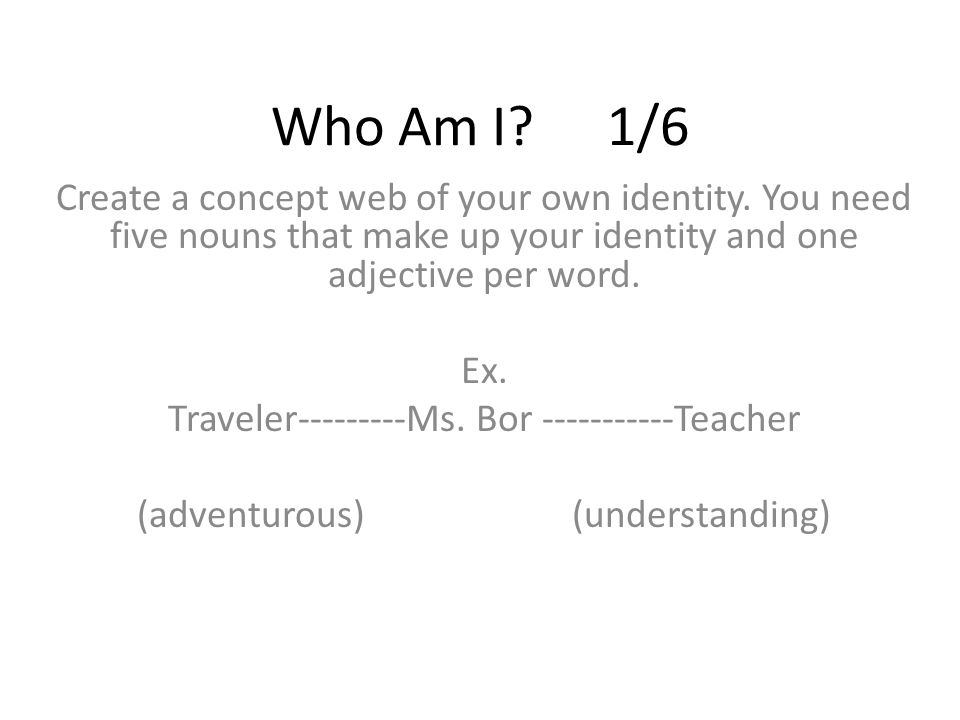 in search of your own identity Identity essay guidelines if not, why not think about your identity how would you describe yourself what does this description say about you.