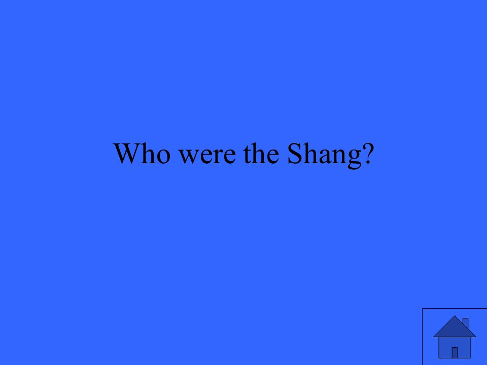 Who were the Shang