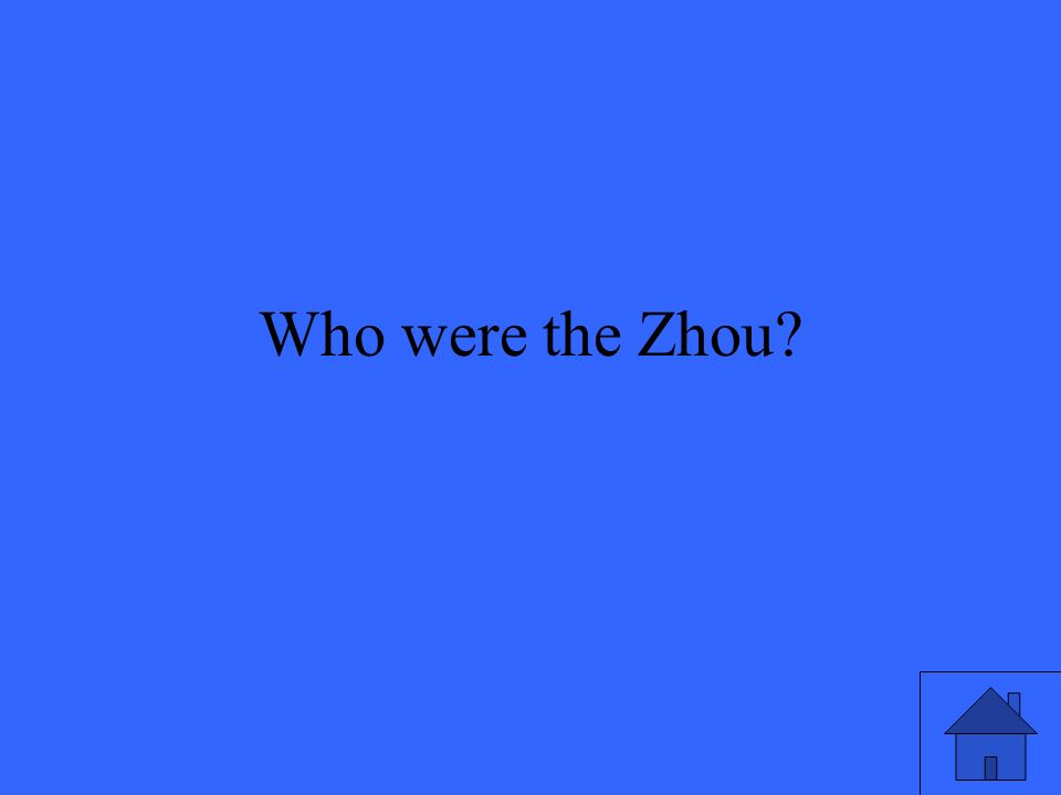 Who were the Zhou