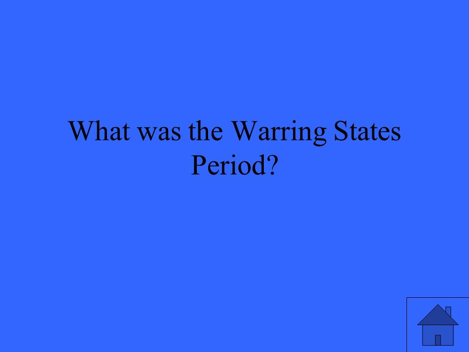 What was the Warring States Period
