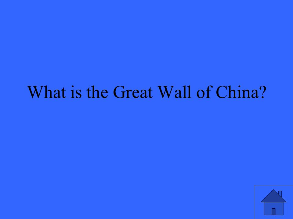 What is the Great Wall of China