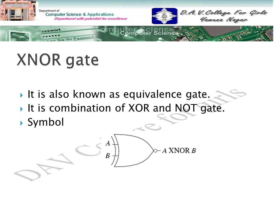  It is also known as equivalence gate.  It is combination of XOR and NOT gate.  Symbol