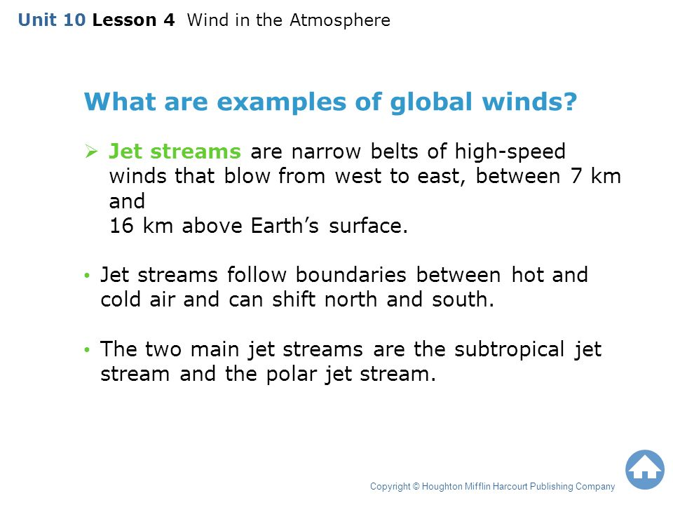 What are examples of global winds.