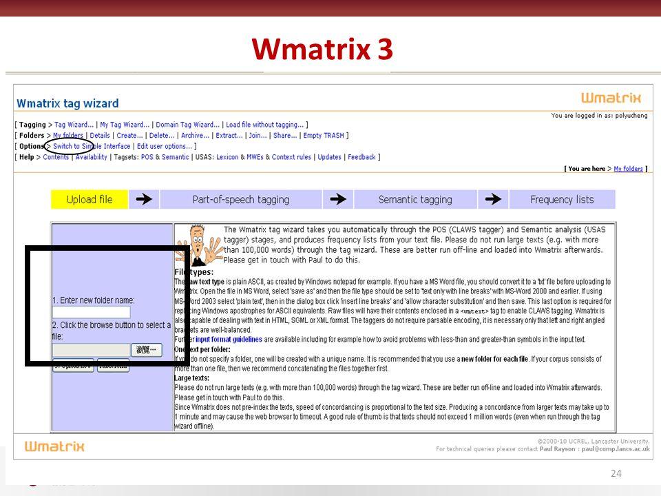 Wmatrix 3 24
