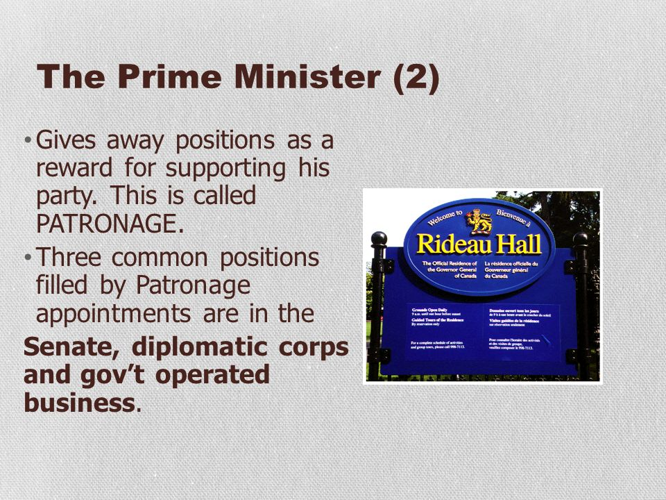The Executive Part of Government The Executive Part of ...