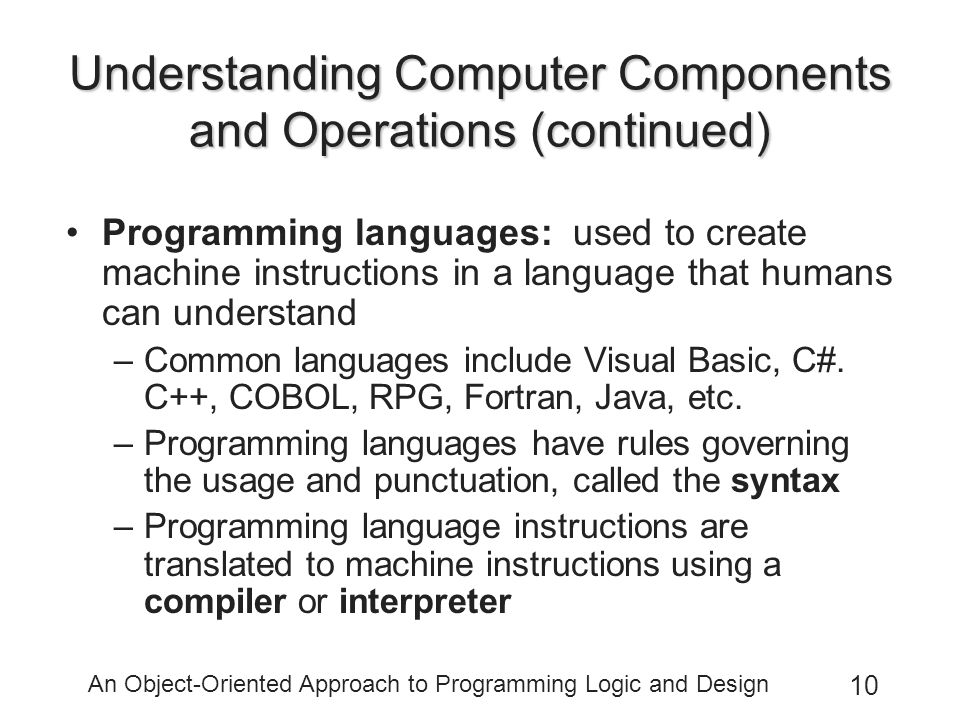the meaning of object orientated approach programming and its significance for programmers What is object oriented programming object-oriented programming differs from procedural programming, which requires that programmers manage tasks at.