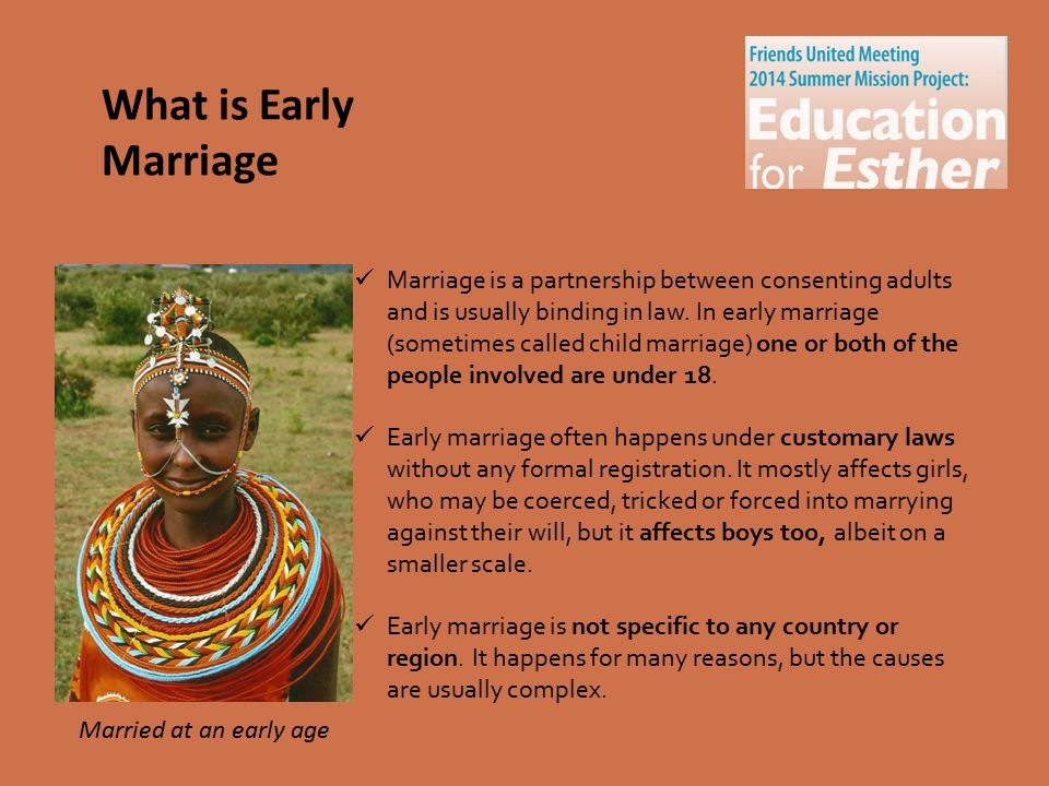 the effects of early marriage among Get access to the effects of early marriage among young adults essays only from anti essays listed results 1 - 30 get studying today and get the grades.