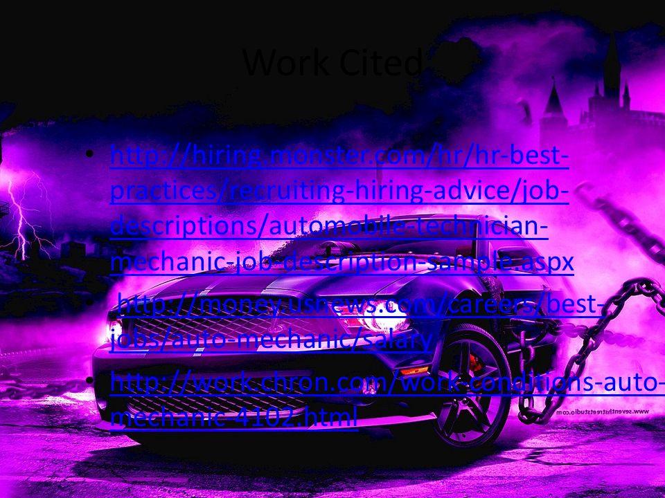 auto mechanic job description