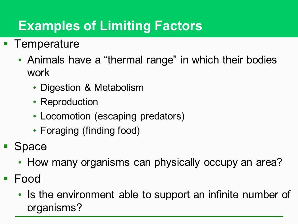 Limiting Factors In An Ecosystem Several Abiotic Factors Can Limit
