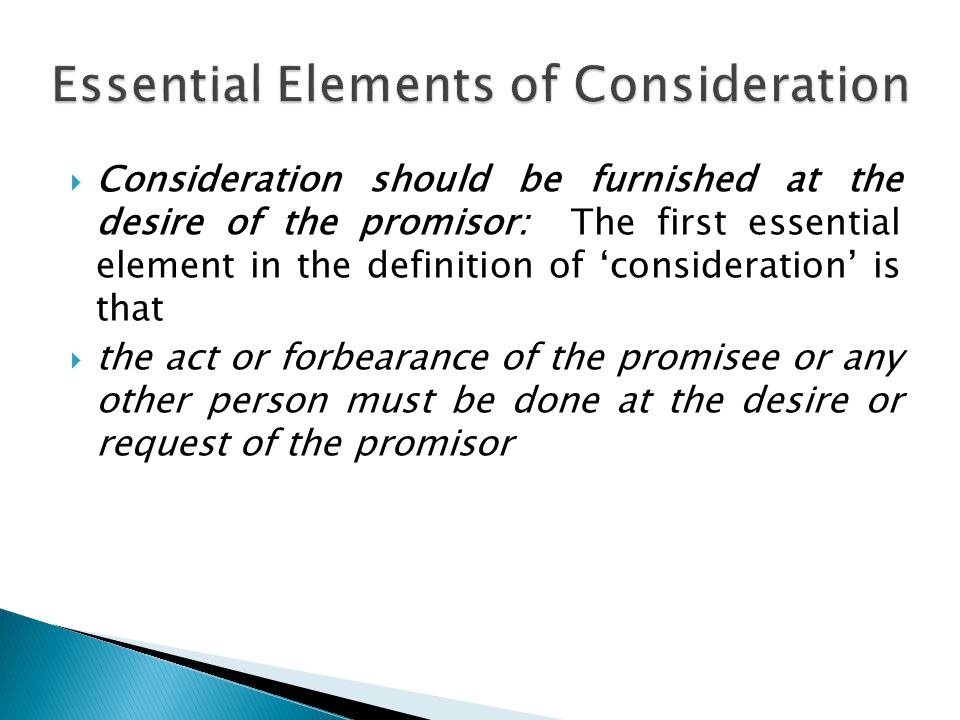 Is An Essential Element Of A Valid Contract An Agreement Without
