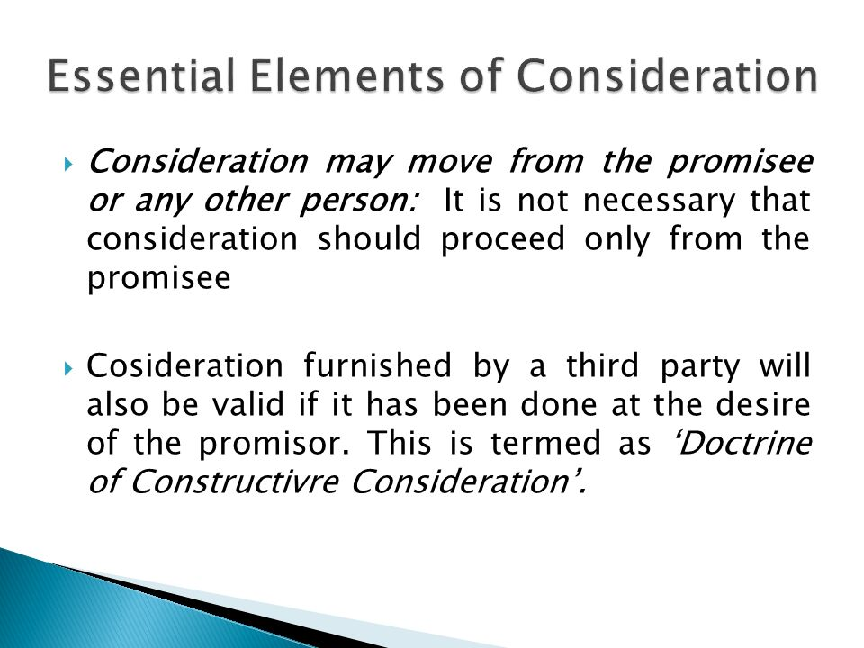 Is An Essential Element Of A Valid Contract. An Agreement Without