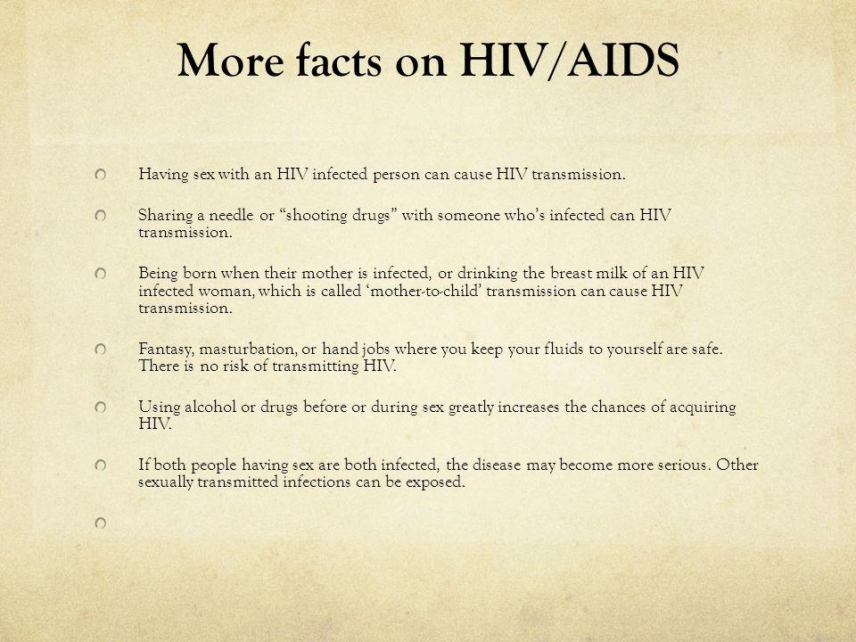 Hiv transmission by masturbation