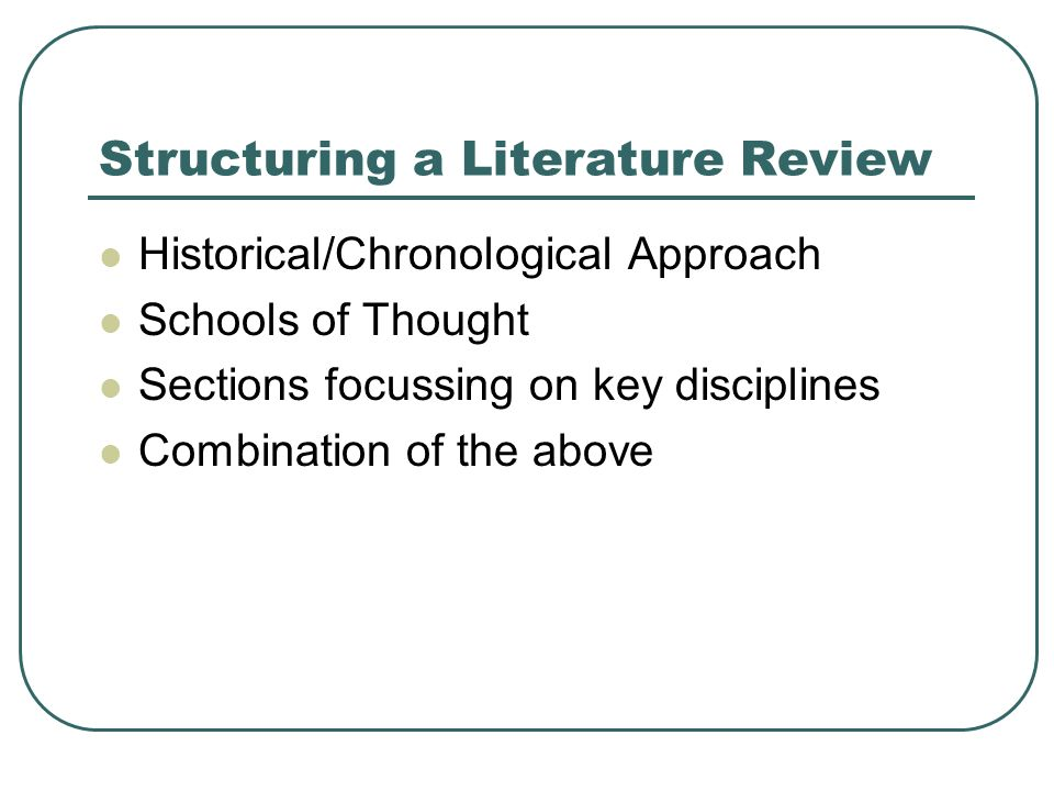 literature review on types of discipline essay