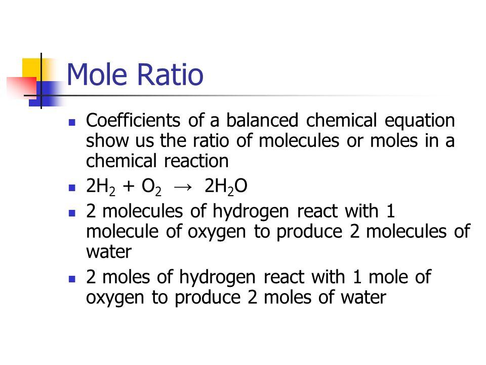 Reaction Stoichiometry Mole Ratio Coefficients of a balanced – Mole Ratio Worksheet