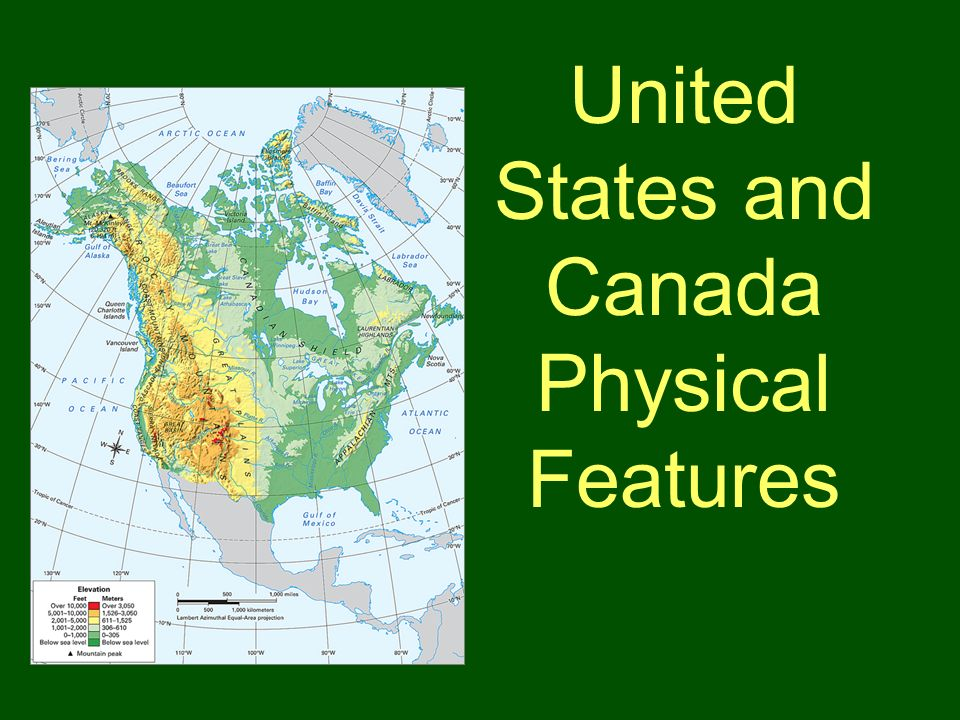 3 United States And Canada Physical Features