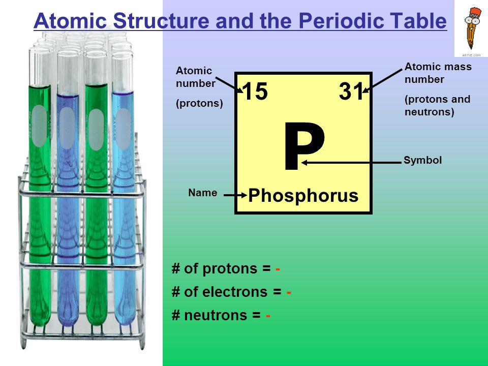 Biochemistry basics objectives 1 able to read a periodic table 2 2 atomic structure and the periodic table of protons of electrons neutrons 1531 p phosphorus atomic mass number protons and neutrons urtaz Choice Image