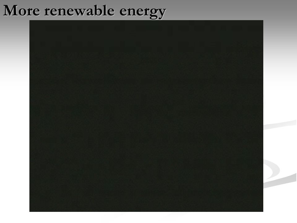 More renewable energy